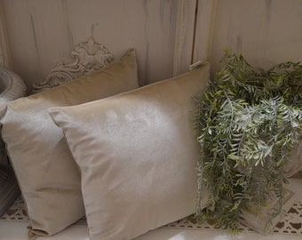 Ivory Velvet Pillow