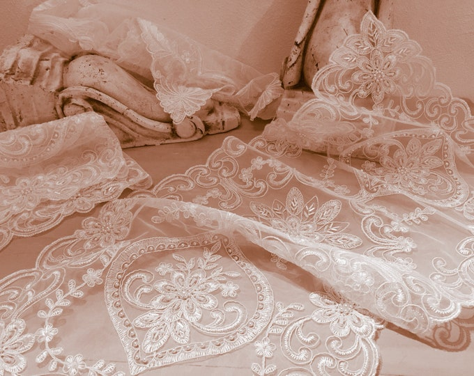Lace Runner and antique style pearls