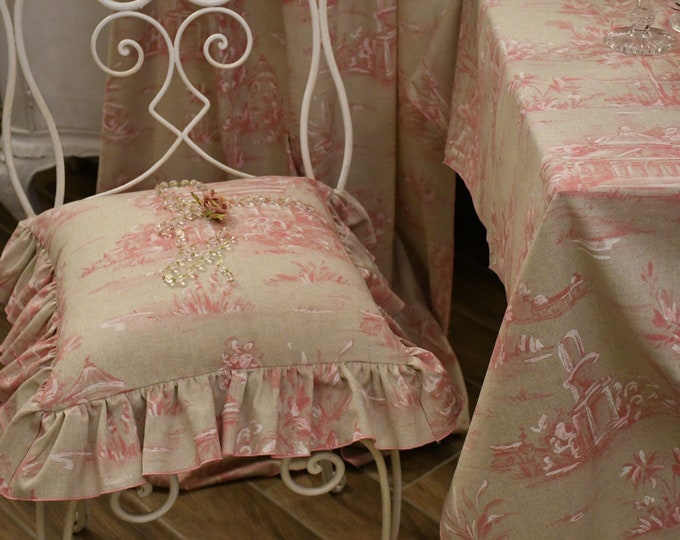 """Pillow with voilant collection """"the paintings"""" pink white"""