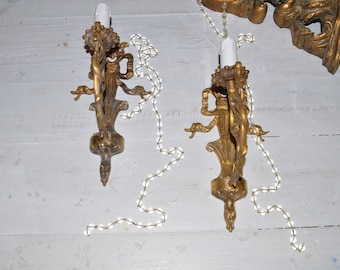 Ancient pair of wall sconces Regency