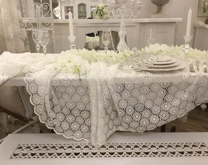 "Macramé ""Marie Antoinette"" Tablecloth"