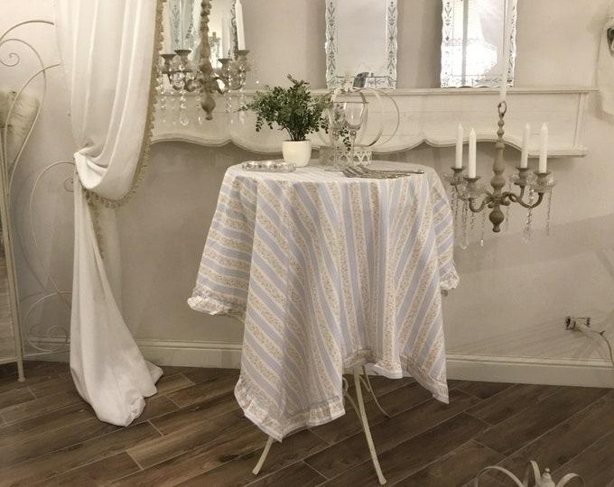 Provencal Tablecloth Riga Blue