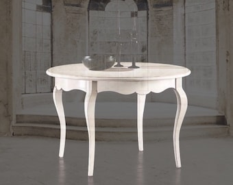 "Round table in wood ""Chanel"""