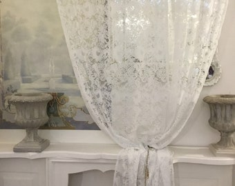 White lace Curtain