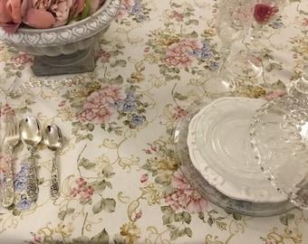 "Floral Tablecloth Collection ""The Flowers of ART NOUVEAU"""