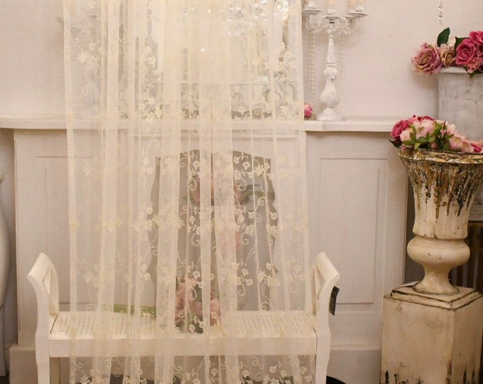 """Ivory embroidered tulle tent """"Silvy"""""""