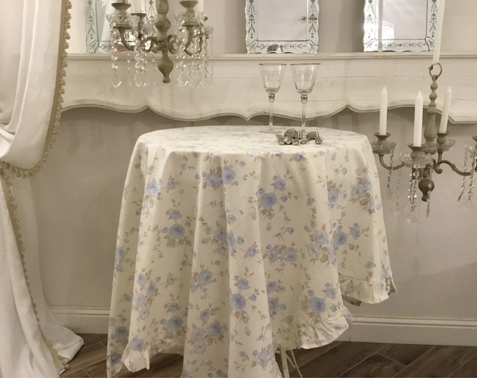 Provenal tablecloth blue flower
