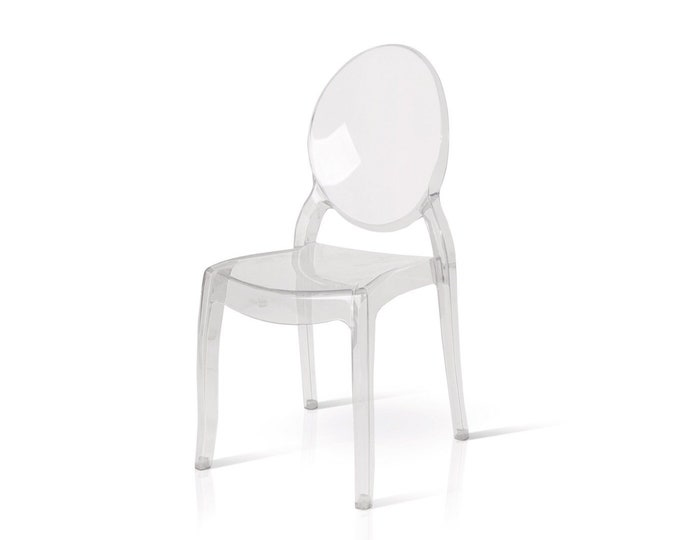 "Transparent chair ""Greta"" set of 4"