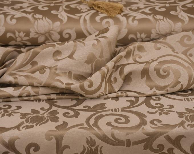 Luxury fabric jacquard gold dove