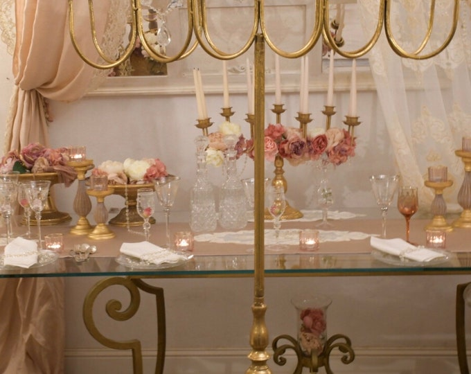 Royal Gold candlestick 11 candles