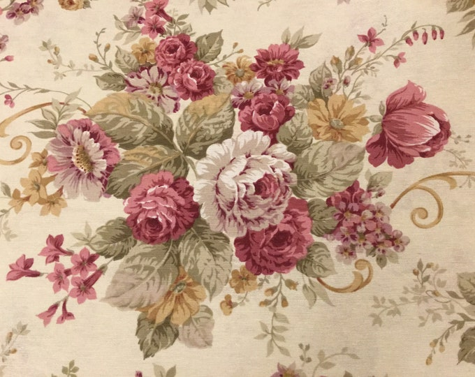 "Cotton Fabric ""Rose vintage"" height meters 2.80"