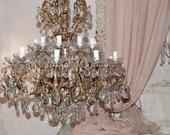 Chandelier Cristal Ancient of the TWENTIETH century 20 lights