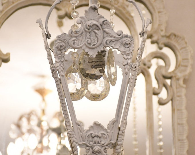 Authentic Lantern of the 20th century in The Art Nouveau style