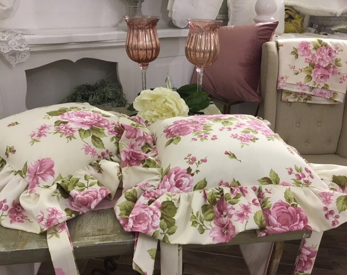 Flower cushion with Gala shabbychic