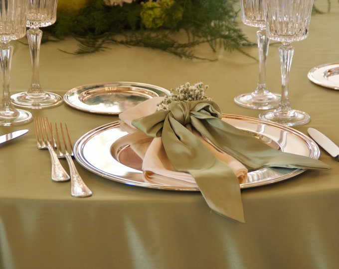 Wedding Napkin Ring Green set of 6