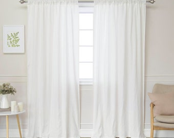 """Pure cotton curtain forcalle collection """"Organic Italian"""""""