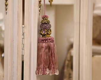 """Flake for keys """"Engy"""" pink decoration doors, furniture, Italian luxury"""
