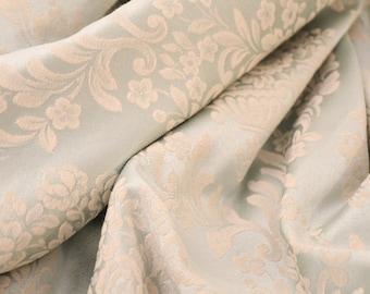 Powder blue cotton damask fabric