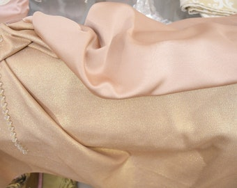 Double face gold lurex fabric