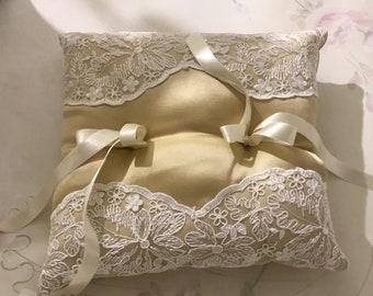 Gold cans cushion