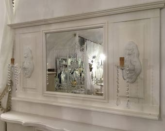 Mirror with vintage Victorian style aplique