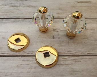 Door knobs in pure antique crystal