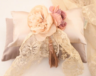 Pillows, flowers, silk, velvet, pearls, lace and .... Perfume