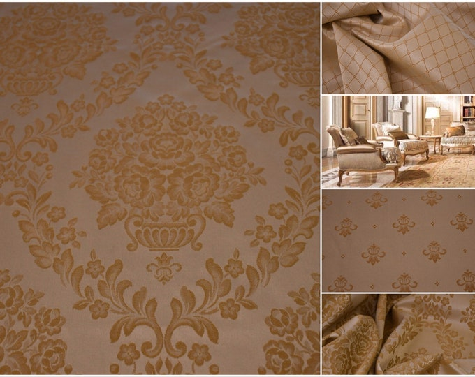 """Damascus fabric luxury beige Ivory Gold. """"Royal Style"""" Collection"""