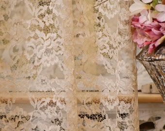 """Beige chantilly lace curtain """"Divina"""""""