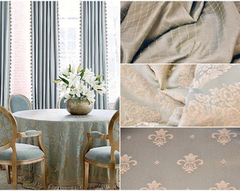 """Damascus fabric luxury light blue collection """"Royal Style"""""""