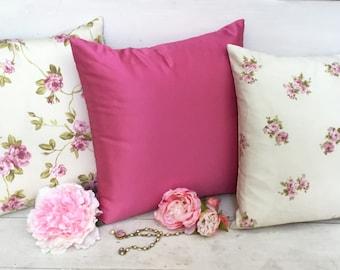 Floral pillow shabbychic Italian cotton shabbychic