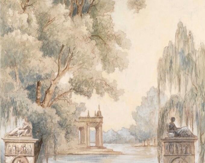 """Canvas painted landscapes """"colonnes"""""""