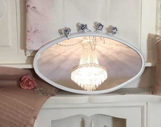 Mirror with liberty roses