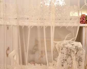 """Embroidered curtain """"MariaCristina"""" collection """"curtains of precious"""""""