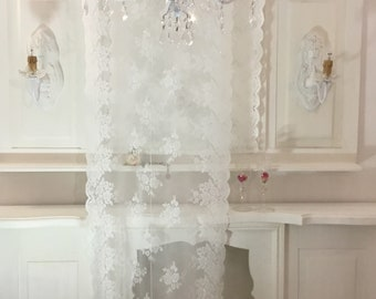 Embroidered Glass Curtains