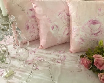 "Hand painted cushion ""ROSE ROSA"""
