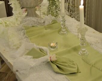 Bride runner Green Sage