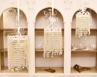 """Crystal drops"" chandelier"