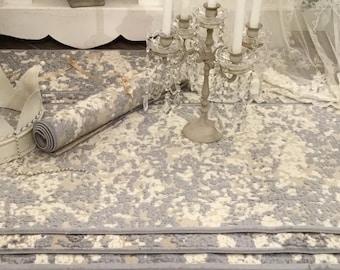 Cotton and velvet carpet