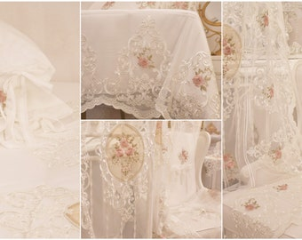 """Embroidered bedspread""""Rose Gifts"""""""
