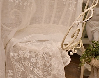 "Linen curtain ""Versailles Marisol"" white"