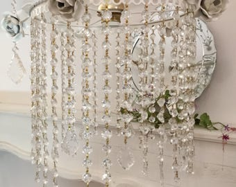 Chandelier Crystal and roses