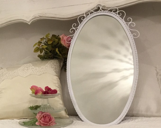 Art nouveau iron mirror