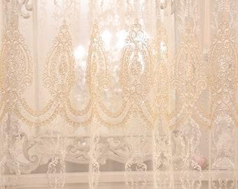 "Embroidered curtain ""MARIASOFIA"" collection ""Tende Preziosi"""