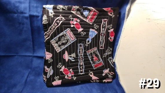 CHARITY (Black with dress forms HOT PAD set of 2 #29)