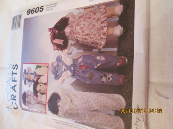 "McCall's 25""doll and clothes pattern 9605"