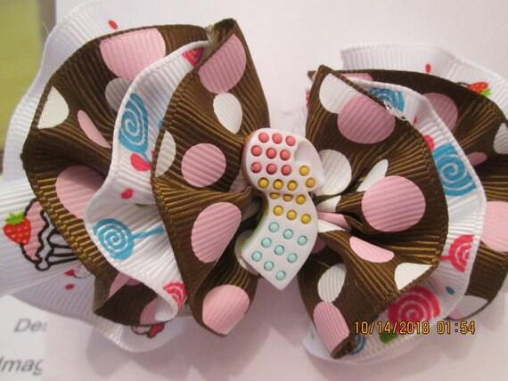 Candy, cupcake and lollipop barrette