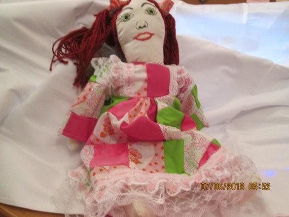 Patchwork Strawberry Shortcake doll