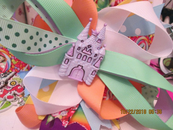 Large candy castle barrette