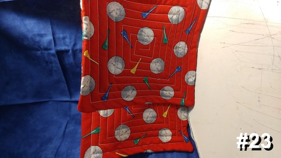 CHARITY (Red golf HOT PAD set of 2 #23)